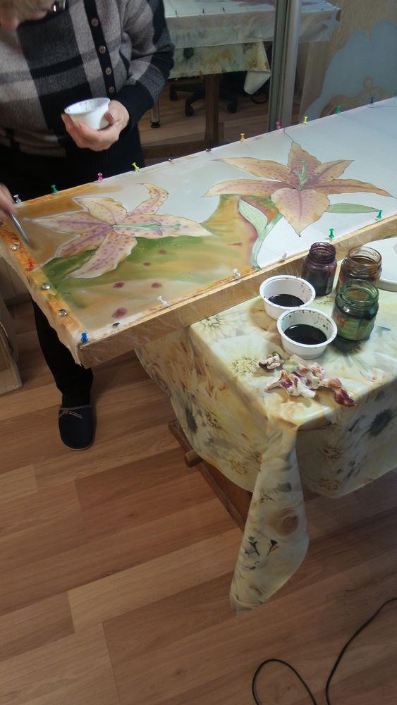 мастер-класс по росписи, батик своими руками