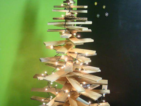 Ёлка Новогодняя из паллет   Ярмарка Мастеров - ручная работа, handmade