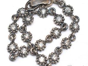Серебряный браслет с муассанитами. Ярмарка Мастеров - ручная работа, handmade.