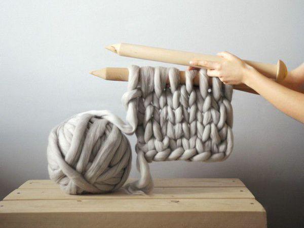 Вязаные вещи из толстой пряжи. Уют гигантских петель от дизайнера Анны Мо | Ярмарка Мастеров - ручная работа, handmade