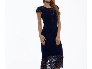 Модель-0808 Коктейльное Платье Длины Миди с V-образным Вырезом из Неж | Ярмарка Мастеров - ручная работа, handmade