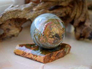 Шар из уральской яшмы. Ярмарка Мастеров - ручная работа, handmade.