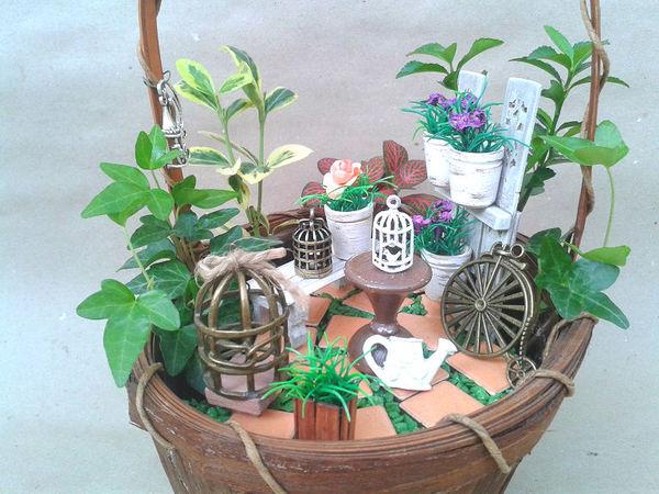 Делаем мини-сад своими руками | Ярмарка Мастеров - ручная работа, handmade