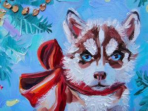Новая картина! Я дарю тебе щенка. Ярмарка Мастеров - ручная работа, handmade.