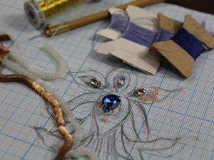 Процесс создания люневильской вышивки | Ярмарка Мастеров - ручная работа, handmade