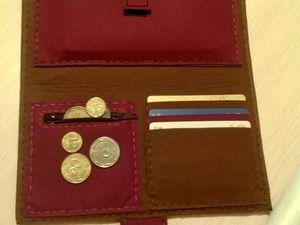 Шьем кошелек из фетра без швейной машинки. Ярмарка Мастеров - ручная работа, handmade.