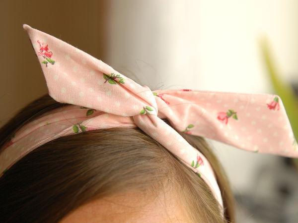 Шьем нежную тканевую повязку на голову   Ярмарка Мастеров - ручная работа, handmade