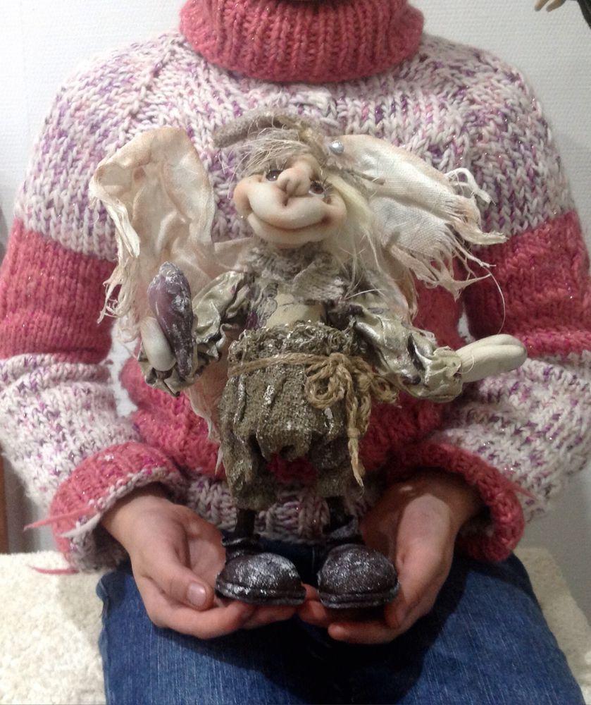 кукла текстильная, для дома и интерьера