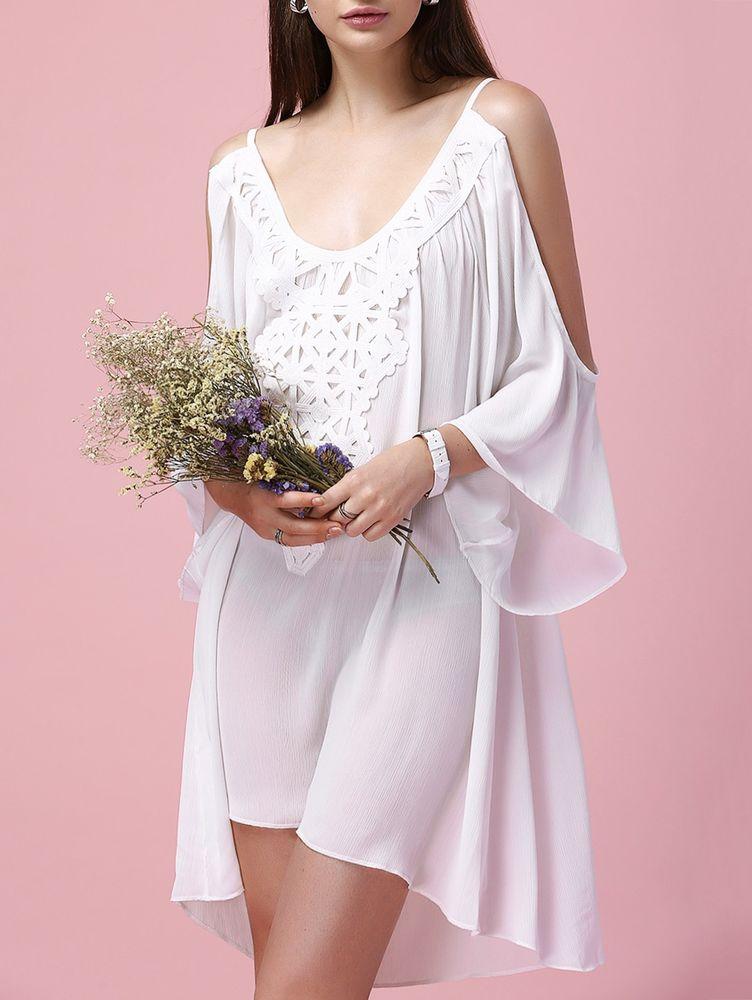 Белое бохо, или Шикарная одежда для королевы летнего пляжа, фото № 40