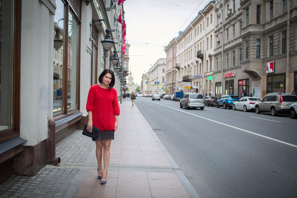 мохеровый свитер, red sweater