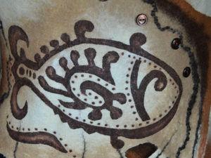 Делаем трафаретный рисунок на готовом изделии из войлока. Ярмарка Мастеров - ручная работа, handmade.