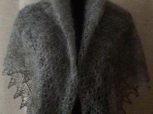 аукцион на пуховый платок Дымка. Ярмарка Мастеров - ручная работа, handmade.