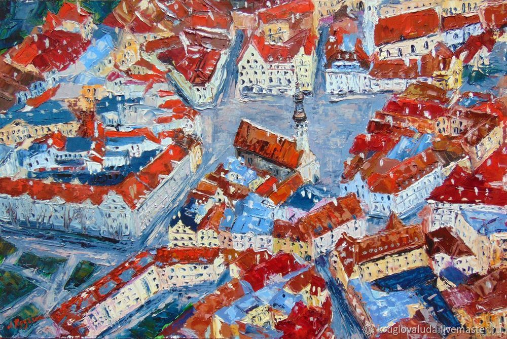 рисуем старый город, рисуем таллин, мастер-класс по живописи