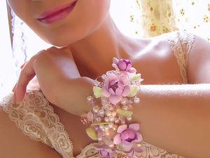 Новые фотографии цветочного браслета. Ярмарка Мастеров - ручная работа, handmade.