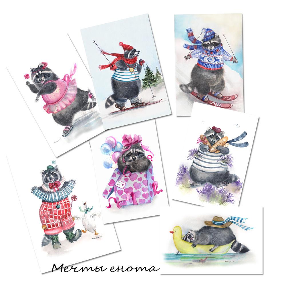 открытки, авторские открытки, пловецкая, набор открыток