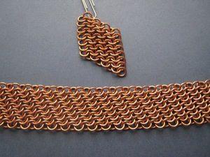 Кольчужное плетение: плетем диагональное европейское полотно. Ярмарка Мастеров - ручная работа, handmade.