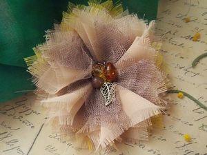 Создаем нежный цветок из шифона. Ярмарка Мастеров - ручная работа, handmade.