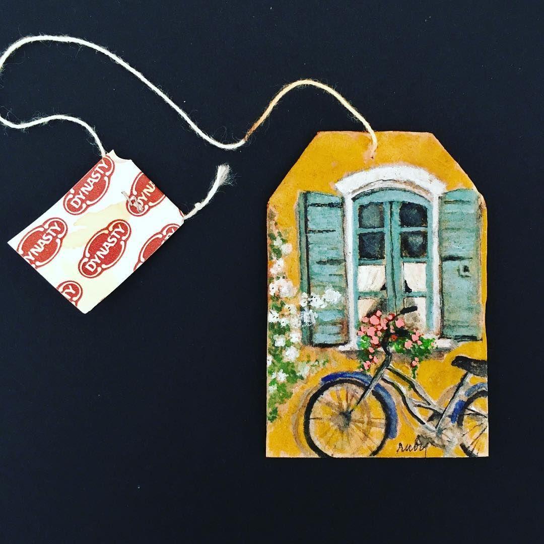 Как найти постоянный источник вдохновения: картины на чайных пакетиках Ruby Silvious