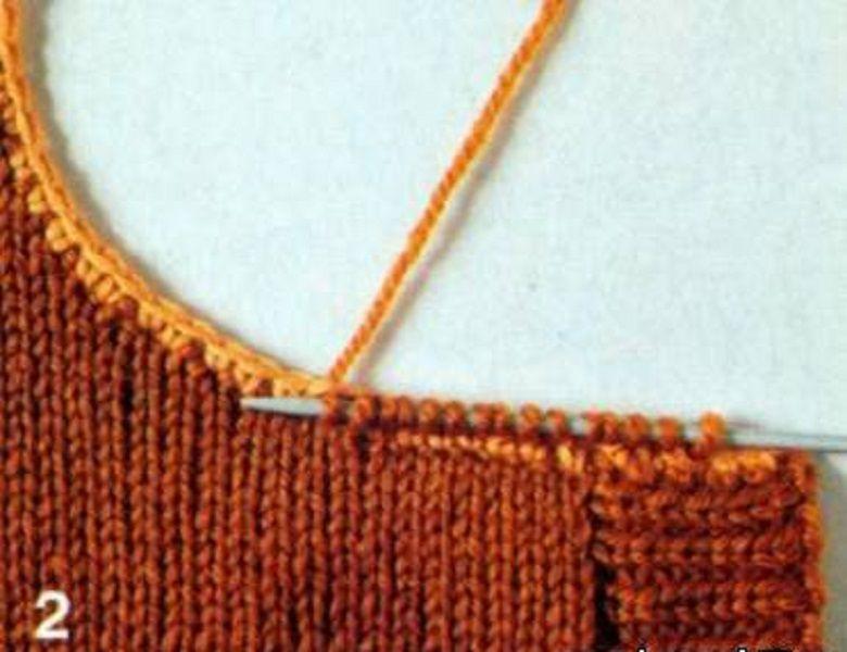 Уроки вязания-3 Воротники на вязаных изделиях., фото № 13