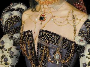 Blue Arson In Tuileries. Фрагмент портрета Маргариты Де Валуа. Ярмарка Мастеров - ручная работа, handmade.