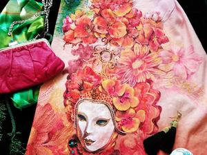 Конкурс Вокруг света 2018 — мое платье Карнавал в Венеции, с авторской ручной росписью, участвует — пожалуйста, друзья, поддержите!. Ярмарка Мастеров - ручная работа, handmade.
