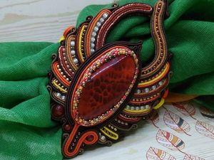 Яркий Зажим-держатель для платка, шарфа, палантина. Ярмарка Мастеров - ручная работа, handmade.