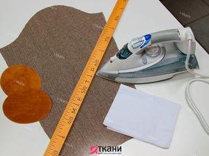 Как наметить декоративную заплатку на локоть рукава. Ярмарка Мастеров - ручная работа, handmade.