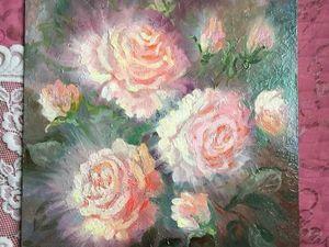 Розовое сияние — картина маслом с 25% скидкой!. Ярмарка Мастеров - ручная работа, handmade.