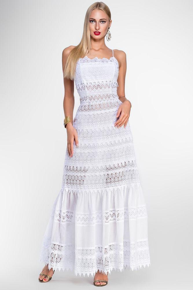 Белое бохо, или Шикарная одежда для королевы летнего пляжа, фото № 21