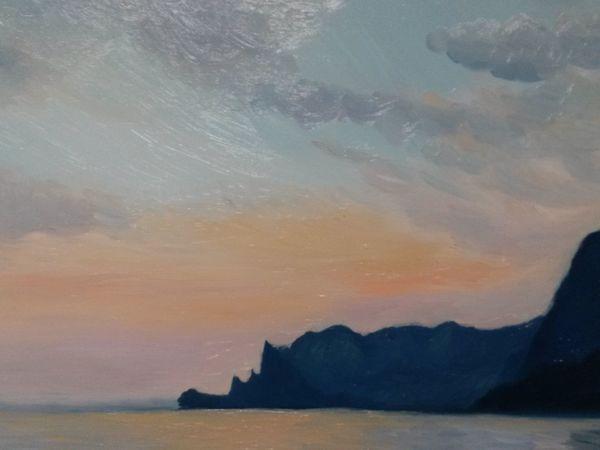 Пишем картину маслом «Черное море» | Ярмарка Мастеров - ручная работа, handmade
