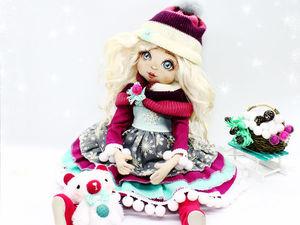 «Девочка-Зима»: создаём прелестную новогоднюю куколку | Ярмарка Мастеров - ручная работа, handmade