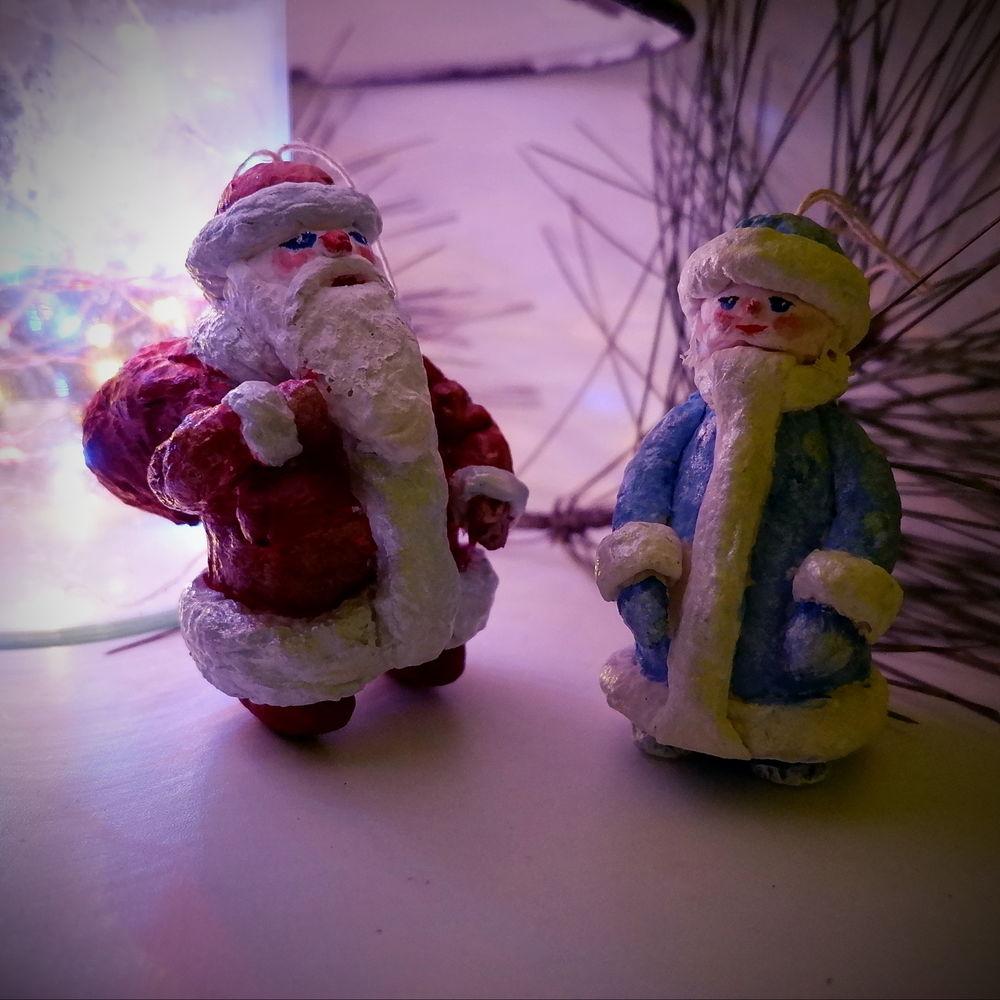 дед мороз, елка, елочная игрушка из ваты