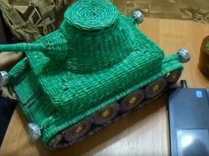 Видеоурок по плетению танка из бумажной лозы. Часть 1. Ярмарка Мастеров - ручная работа, handmade.