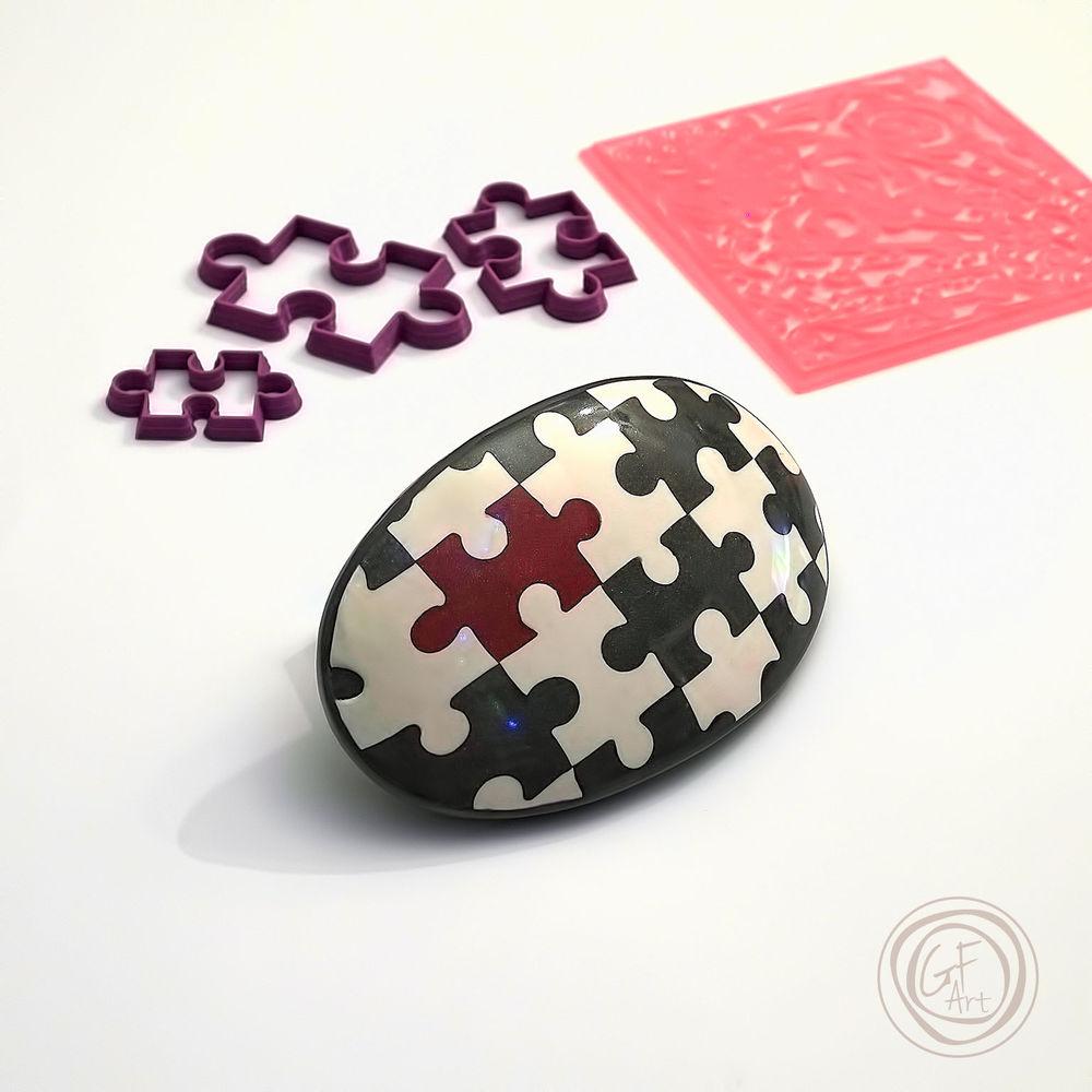 gfarttools, каттер, полимерная глина, подарок, формы для глины, паззл, акция, формы для печенья