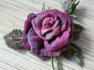 Когда в руках распускаются цветы: создаем розочку из шерсти. Ярмарка Мастеров - ручная работа, handmade.
