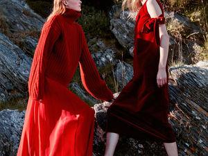 Красный цвет: грядет пора, где яркой будет лишь одежда человека, а зима останется белой и скучной. Ярмарка Мастеров - ручная работа, handmade.