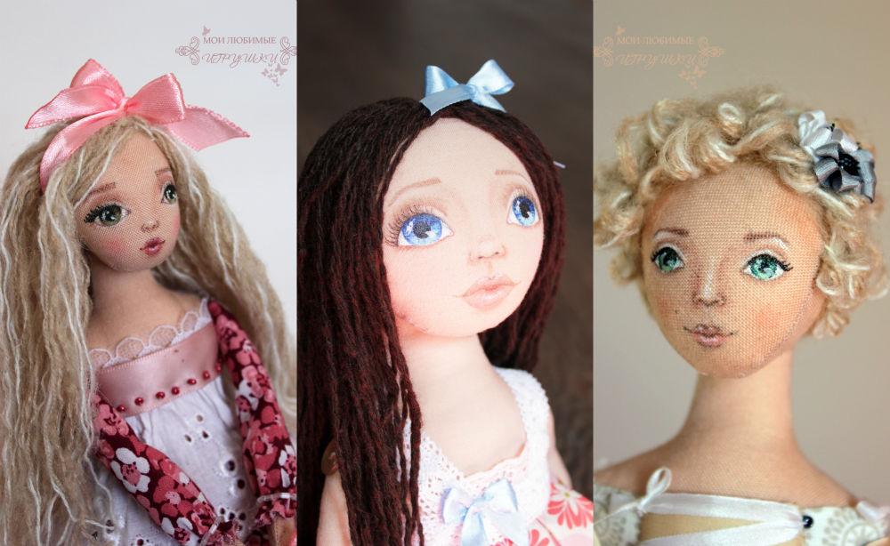 Как сделать волосы для портретная кукла 2