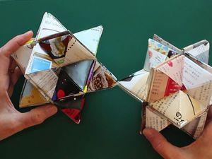 Видео мастер-класс: складываем звезду и куб «Yoshimoto». Прочная игрушка без клея и скотча. Ярмарка Мастеров - ручная работа, handmade.