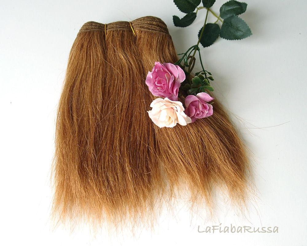 материалы для кукол, бжд, трессы для куклы, натуральные волосы, парик для куклы, трессы для кукол, трессы, тильда, тыквоголовка, темные кудри