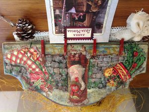 Рождественское панно-вешалка
