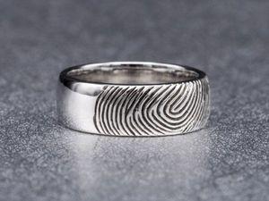 Выбор обручального кольца с отпечатком пальца. Ярмарка Мастеров - ручная работа, handmade.