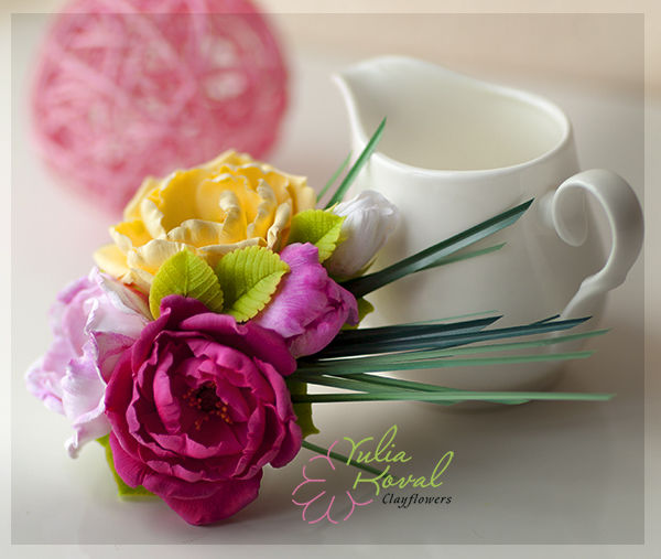 розовый, цветы ручной работы