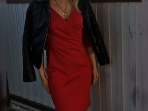 Красные платья - тренд FW'17/18. Ярмарка Мастеров - ручная работа, handmade.