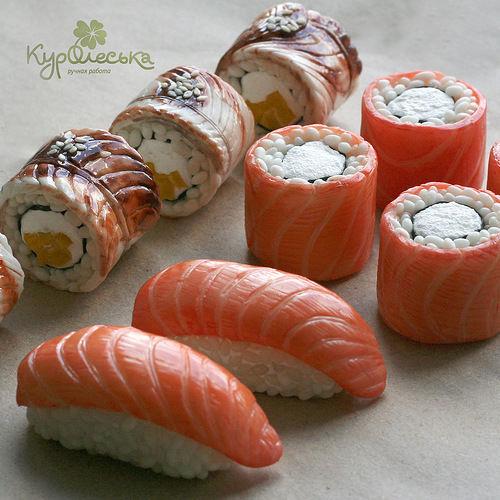 суши холодный фарфор