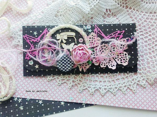 Создаем своими руками оригинальный конверт для денежного подарка | Ярмарка Мастеров - ручная работа, handmade