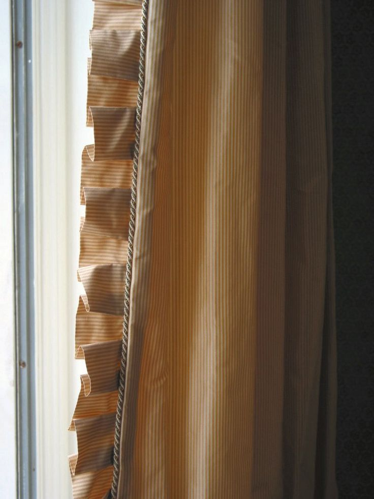 Drapery Detail - micro-cord and pleated leading edge