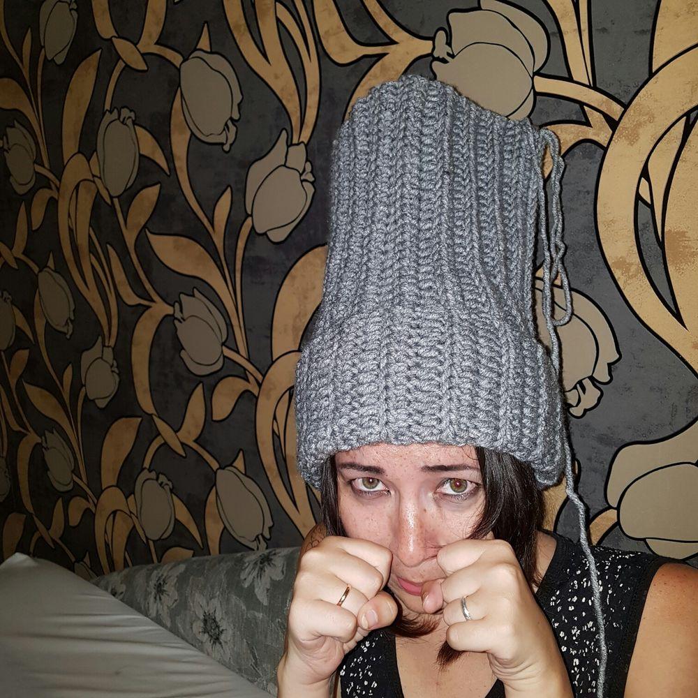 шапка с помпоном, шапка ручной работы