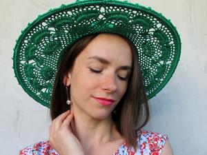 Новинка! Широкополая летняя шляпа. Ярмарка Мастеров - ручная работа, handmade.