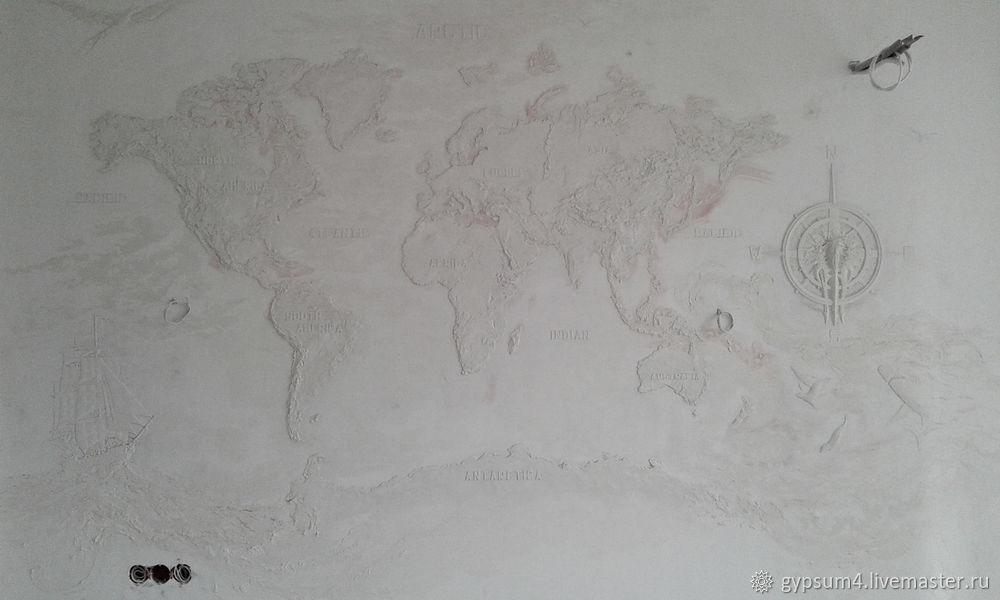 Изготавливаем барельеф «Карта», фото № 34