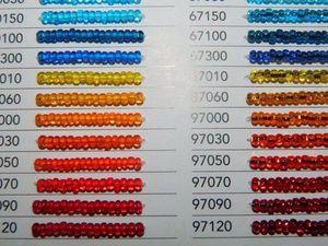 Цветовая карта бисера PRECIOSA с артикулами. Ярмарка Мастеров - ручная работа, handmade.